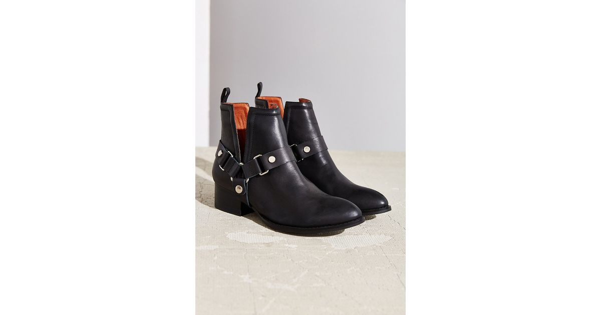 jeffrey cbell musk harness ankle boot in black lyst