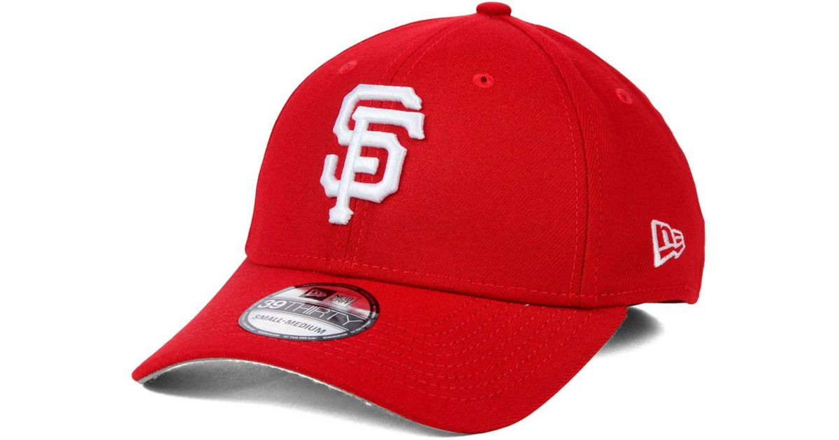 Ktz San Francisco Giants Fashion 39thirty Cap In Red For