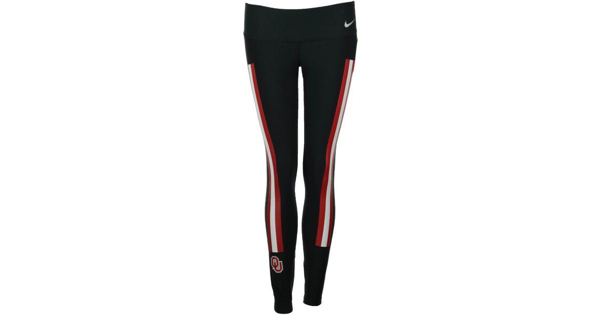 Lyst - Nike Women s Oklahoma Sooners Champ Drive Legend Tights in Black 945d5ed7bc