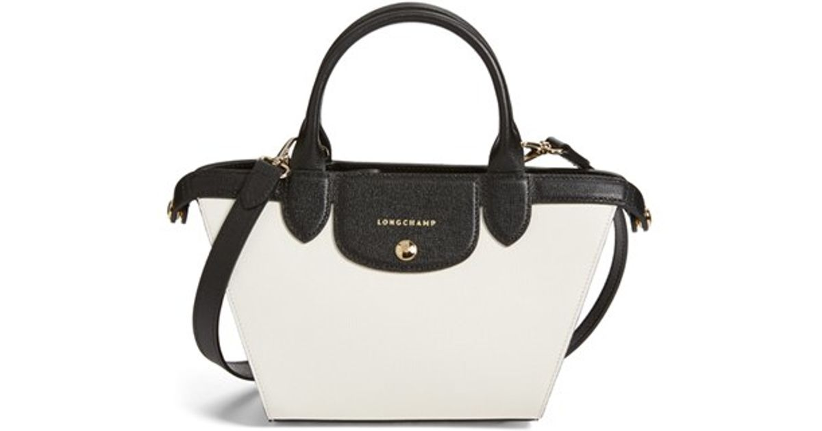 678acfbe8e70 Lyst - Longchamp  small Le Pliage - Heritage  Leather Handbag in White
