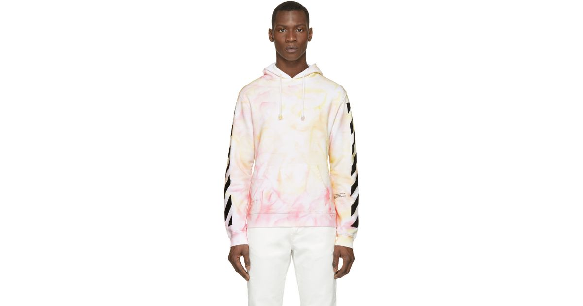00b4664c690f Lyst - Off-White c o Virgil Abloh Ssense Exclusive Red And Orange Tie dye  Hoodie in Red for Men