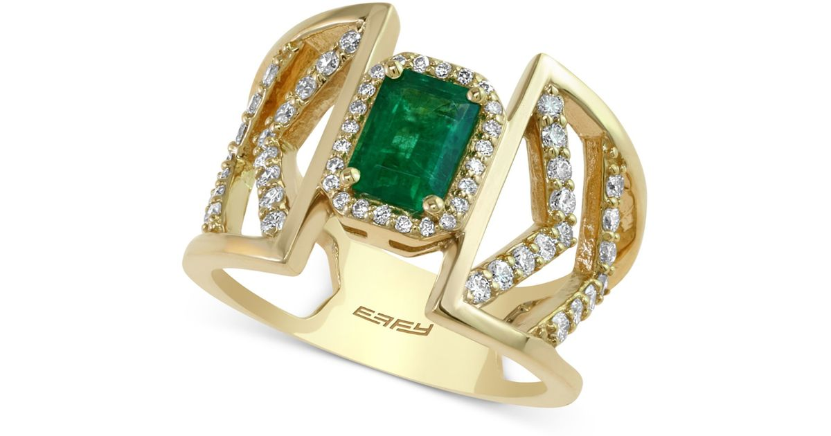 effy collection effy emerald 1 ct t w and 1 2