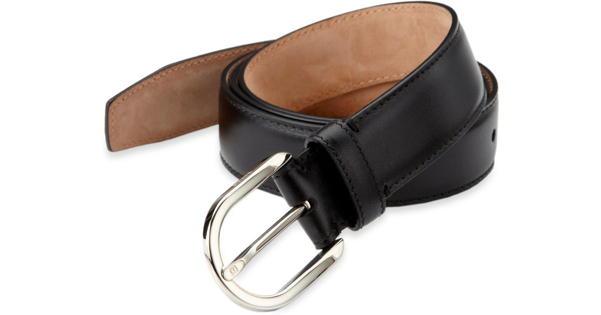 bally leather dress belt in black for lyst