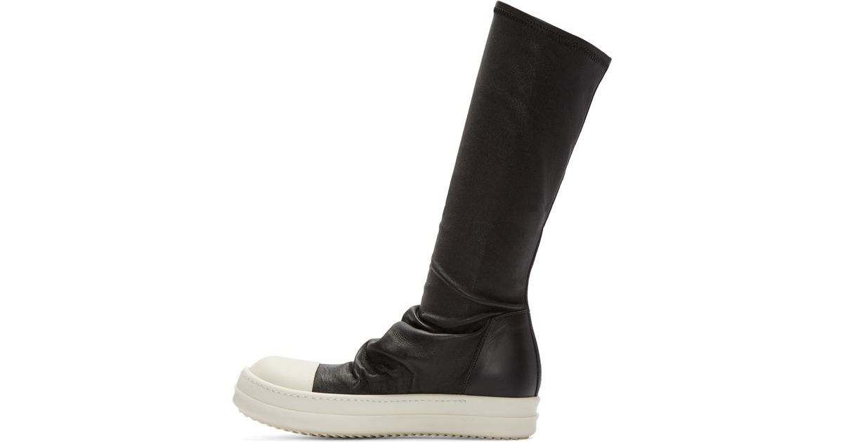 Leather Sock High-top Sneakers