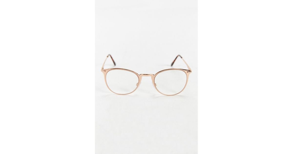 27df6a0ea0 Lyst - Urban Outfitters Rose Gold Round Readers in Metallic for Men