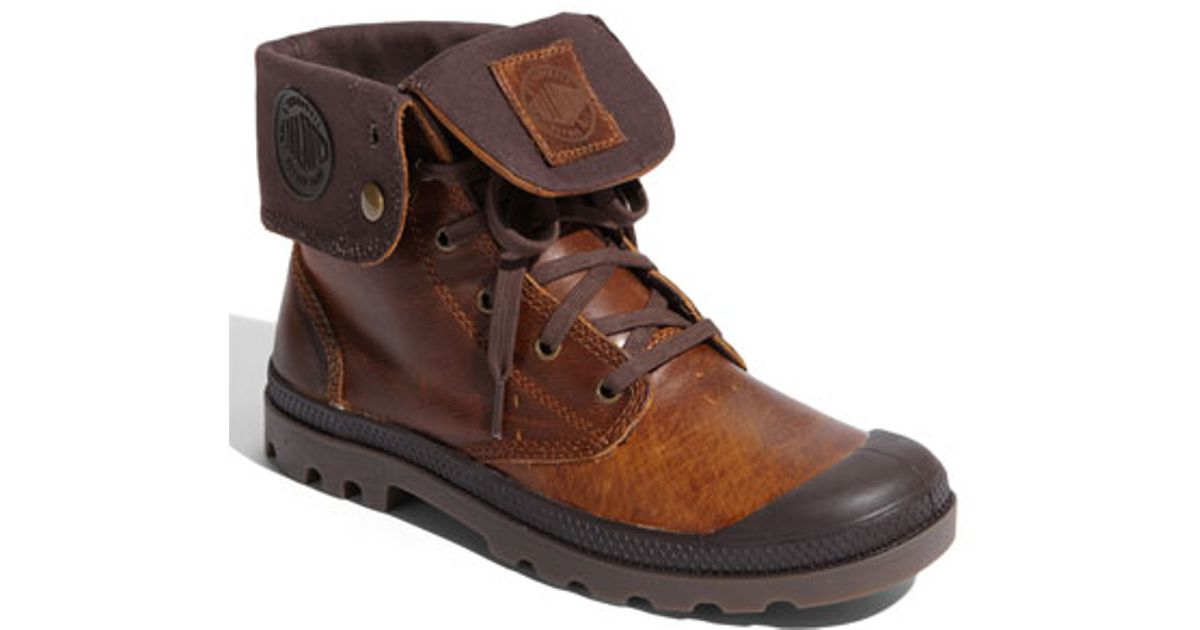 cb3a3ea7606 Palladium Brown 'baggy' Leather Roll Down Boot for men