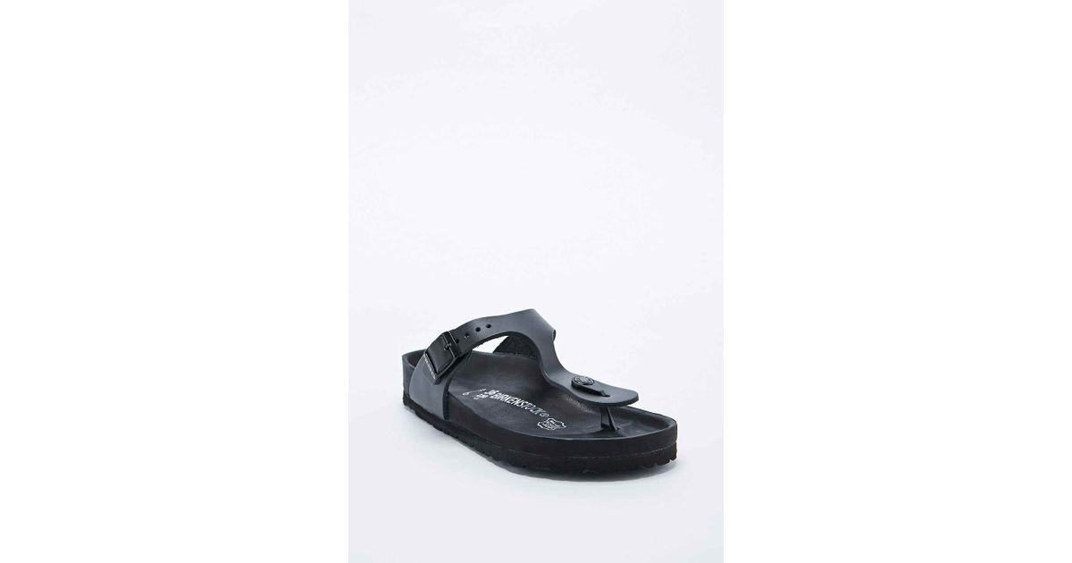 66fcb5a8d260 Birkenstock Gizeh Exquisite Leather Sandals in Black in Black - Lyst