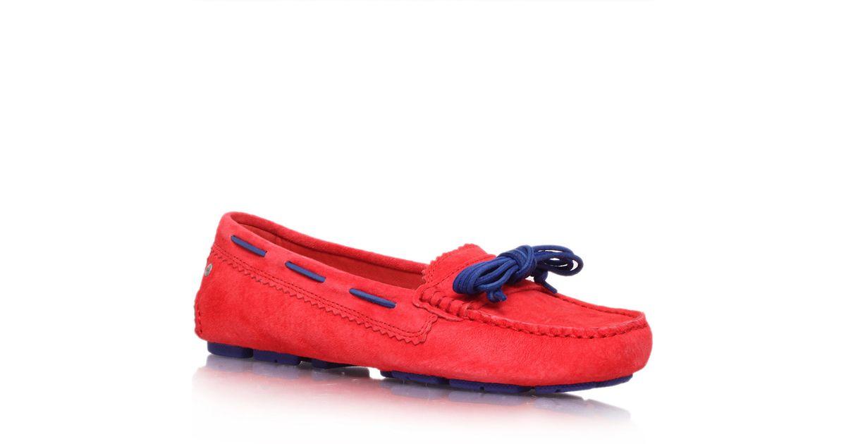 7aca69b24b3 UGG Red Meena Suede Loafers