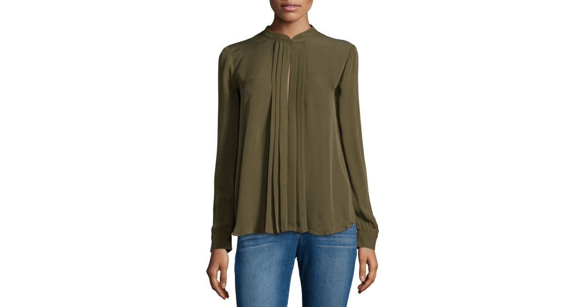 Women'S Olive Green Top Blouse 34