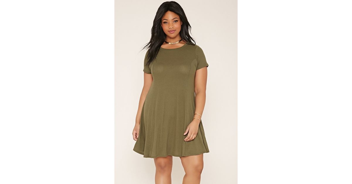 Forever 21 Green Plus Size T-shirt Dress You\'ve Been Added To The Waitlist