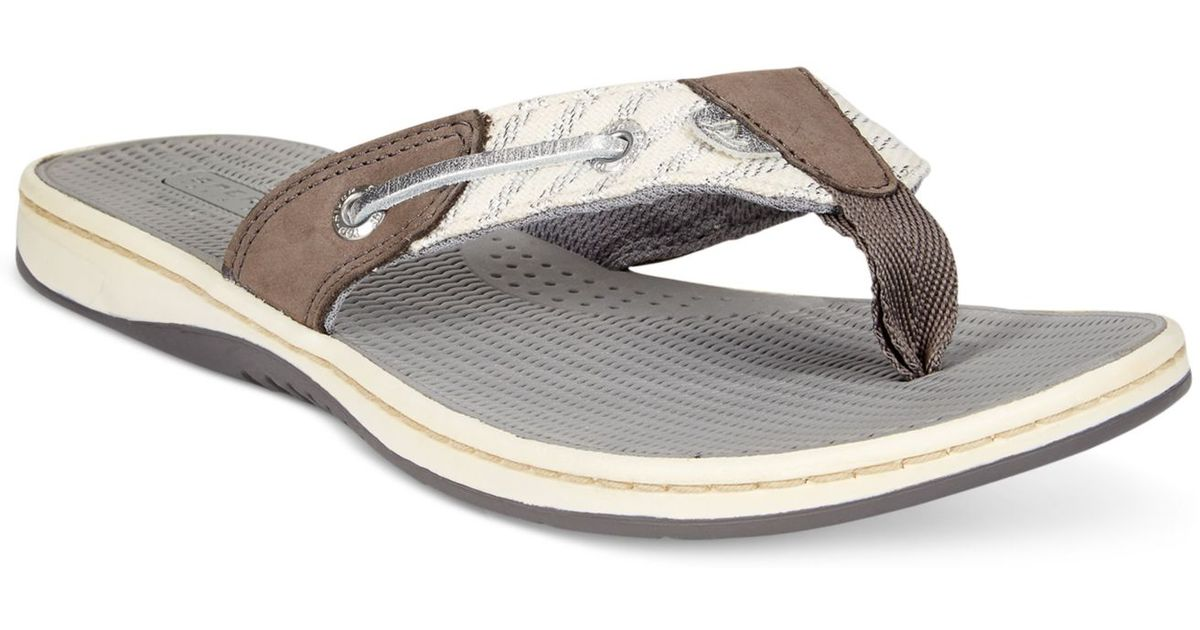 10a78a2460d5eb Lyst - Sperry Top-Sider Sperry Women S Seafish Thong Sandals in Gray