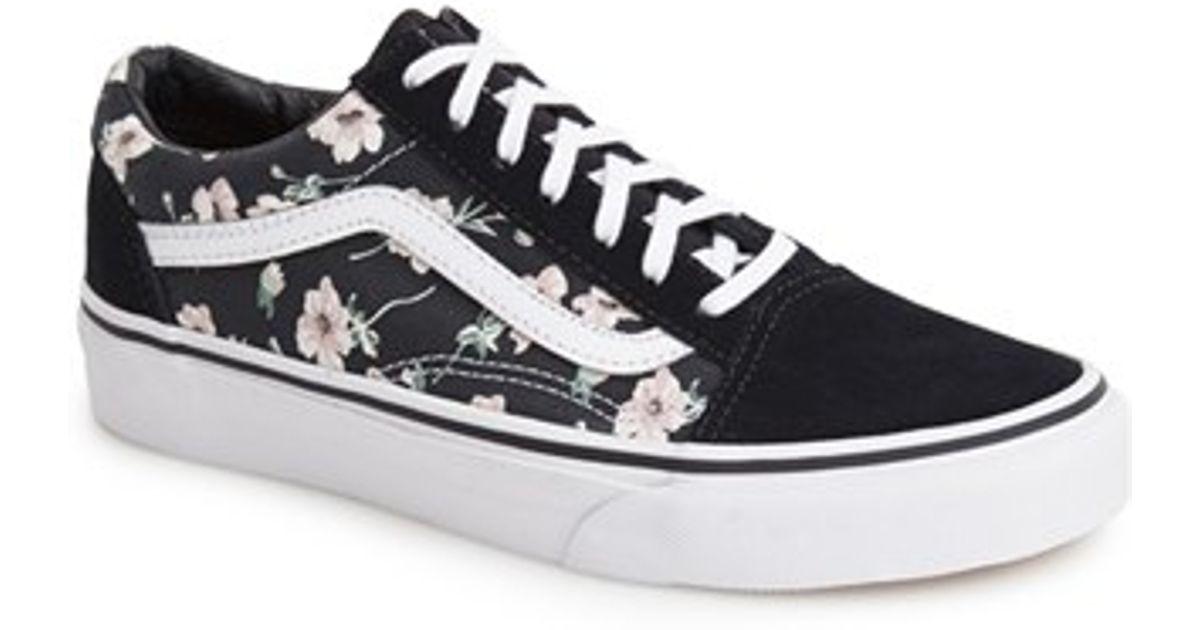 76381cc278cb73 Vintage Floral  Sneaker Blue Lyst In Vans Skool  old uTlJ1cKF3