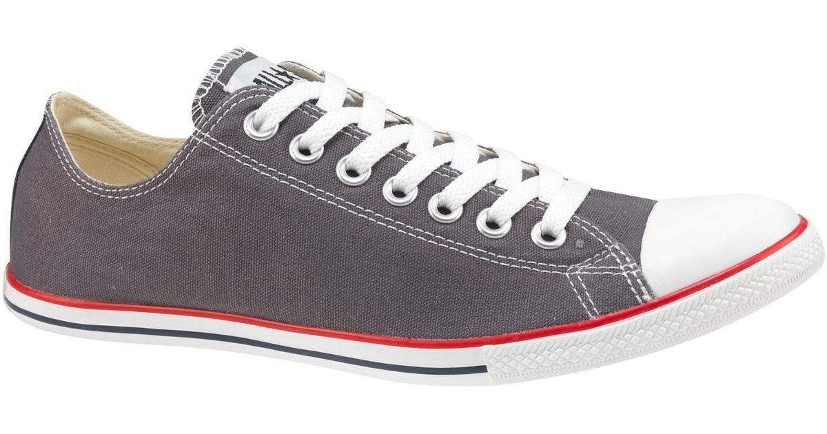75463d9a4341 Converse All Star Slim Ox Chuck Taylor Trainers Charcoal in Gray for Men -  Lyst