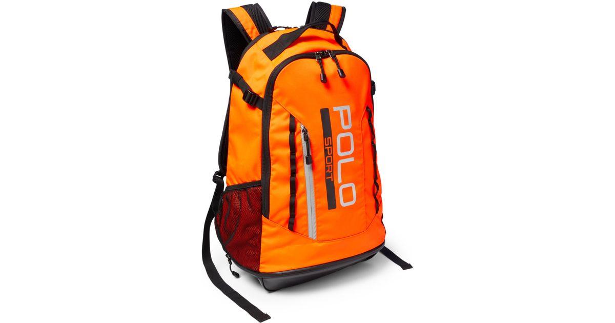 Polo ralph lauren Polo Sport Backpack in Orange for Men ...