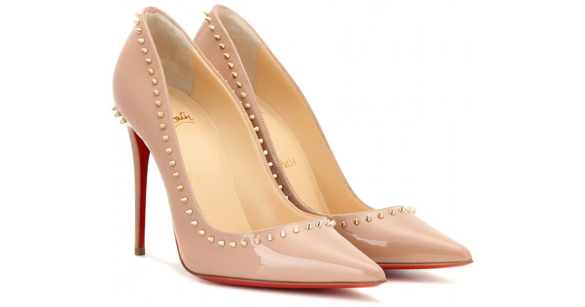 quality design 6620f c7fea Christian Louboutin Natural Anjalina 100 Patent-Leather Pumps