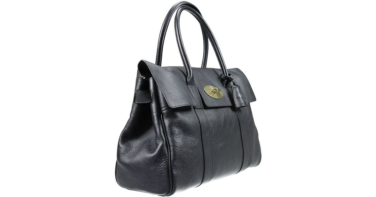 3bc2774cab20 Lyst - Mulberry Handbag Bayswater Natural Veg Tanned in Black