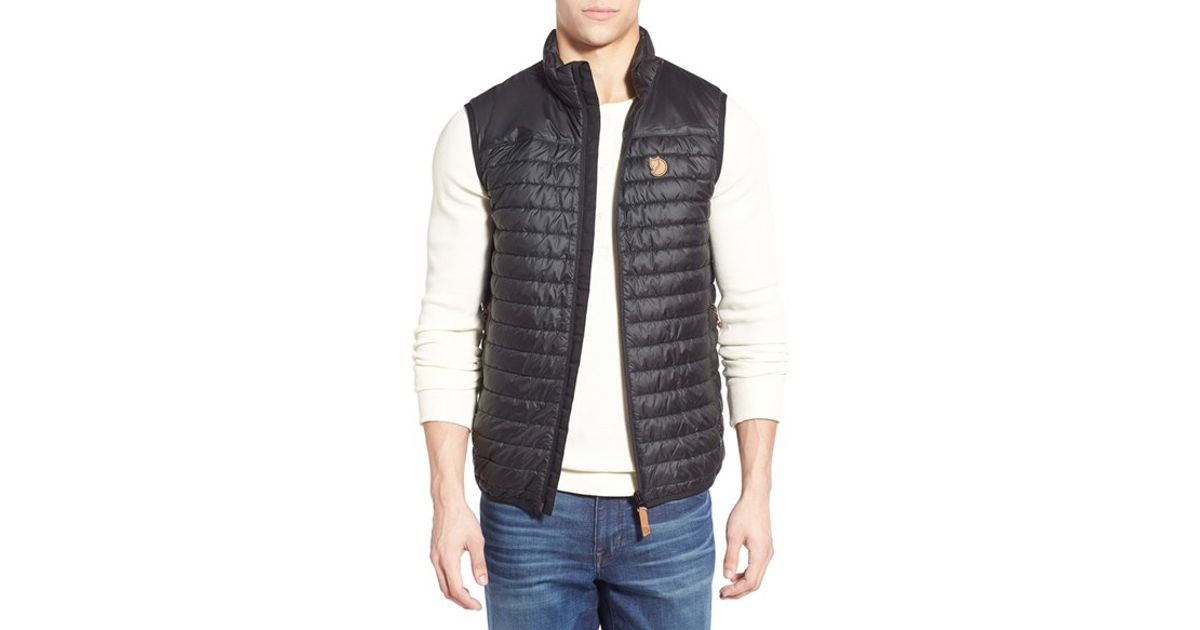 outlet boutique cute cheap a few days away Fjallraven Black 'abisko' Quilted Vest for men