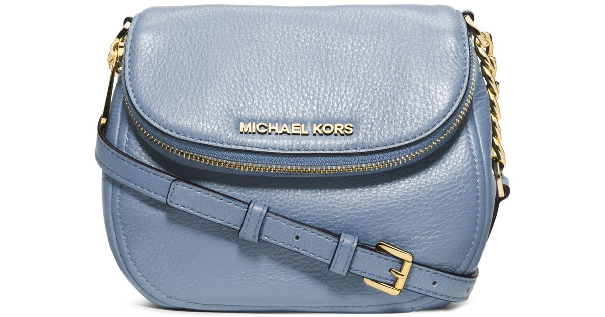 52f5fc4d9939 Michael Kors Bedford Leather Crossbody in Blue - Lyst