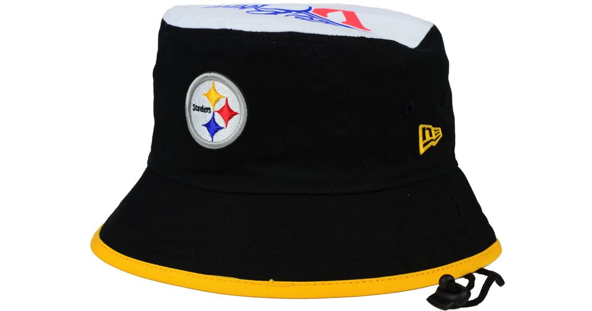 Lyst - KTZ Pittsburgh Steelers Traveler Bucket Hat in Black for Men dca142872