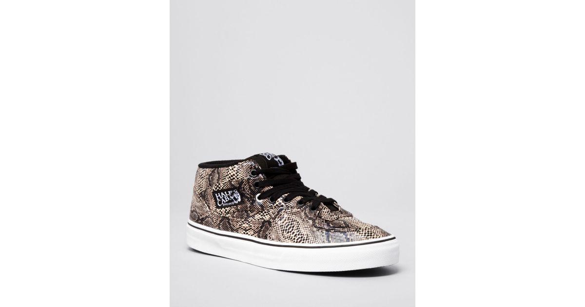 7bd20de646 Lyst - Vans Half Cab Snake Sneakers in Natural for Men