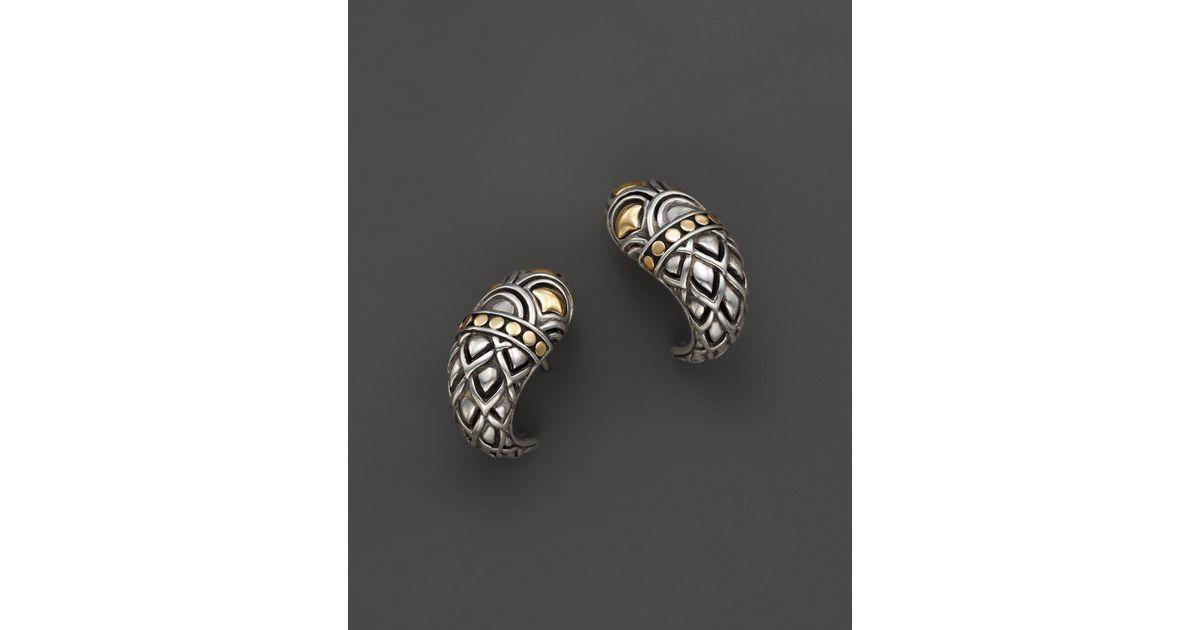 Lyst John Hardy Women S 18k Gold Sterling Silver Naga Shrimp Earrings In Metallic