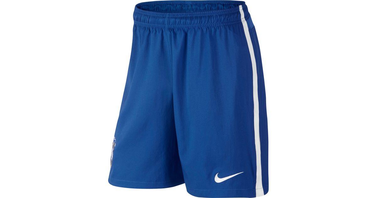 Nike Blue Brasil Cbf Stadium Replica Home Shorts for men