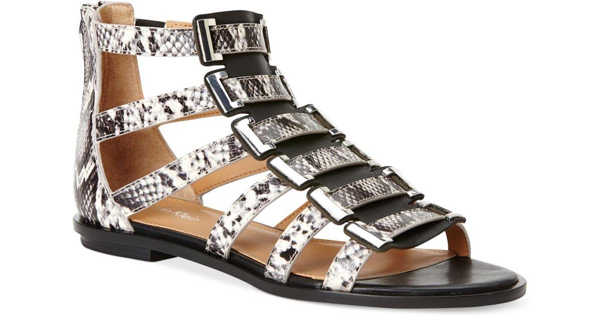 51759ef5fde Lyst - Calvin Klein Women S Undina Gladiator Sandals in Black