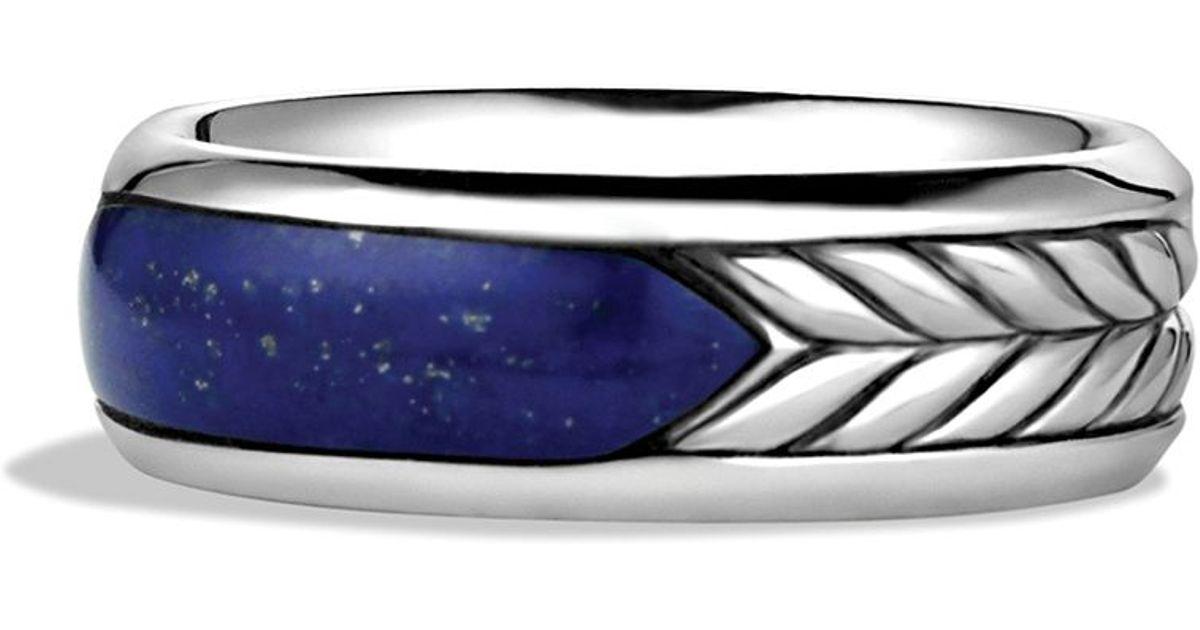 Lyst David Yurman Exotic Stone Band Ring With Lapis Lazuli in
