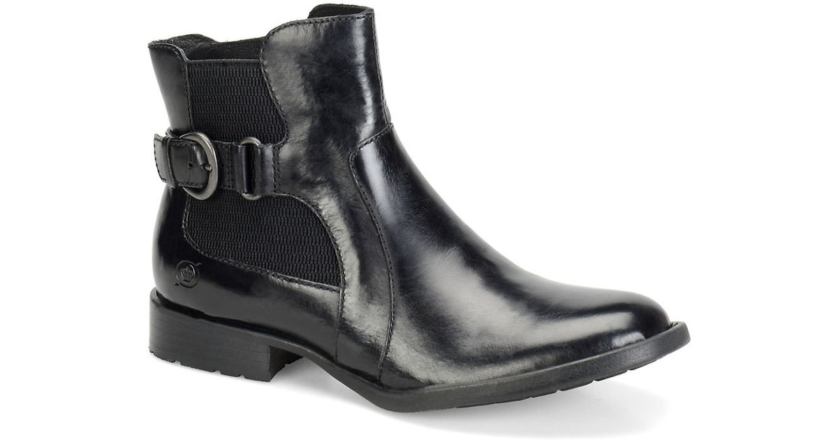 born stewart leather ankle boots in black lyst