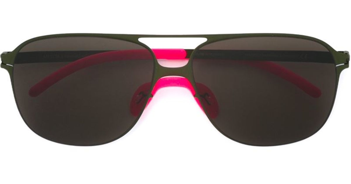 ee7d4a1017 Mykita Bernard Willhem X  schorsch  Sunglasses in Green - Lyst