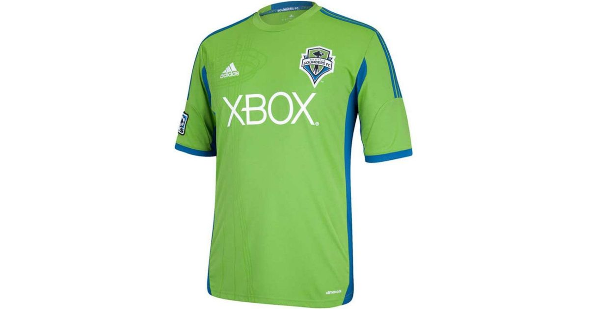 lowest price d41d2 c0e5d Adidas - Green Kids Seattle Sounders Fc Replica Jersey for Men - Lyst