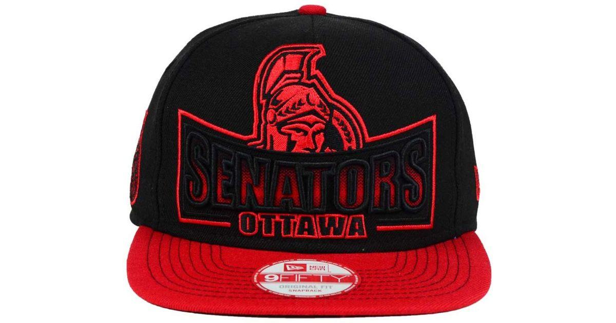 big sale 69cd0 1767c Lyst - Ktz Ottawa Senators Grader 9fifty Snapback Cap in Black for Men