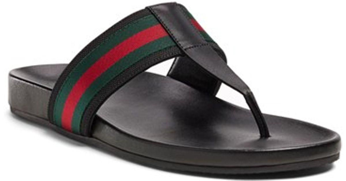 e6de60352 Lyst - Gucci  zen  Flip Flop in Black for Men