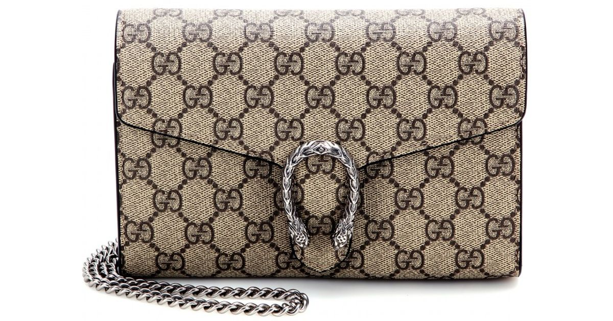 7707562f259f Gucci Dionysus GG Supreme Shoulder Bag in Natural - Lyst