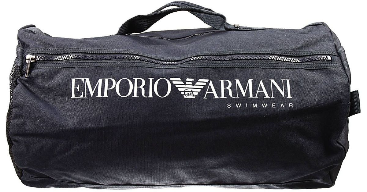 951ab409fa89 Lyst - Giorgio Armani Handbag Gym Bag With Logo in Blue for Men