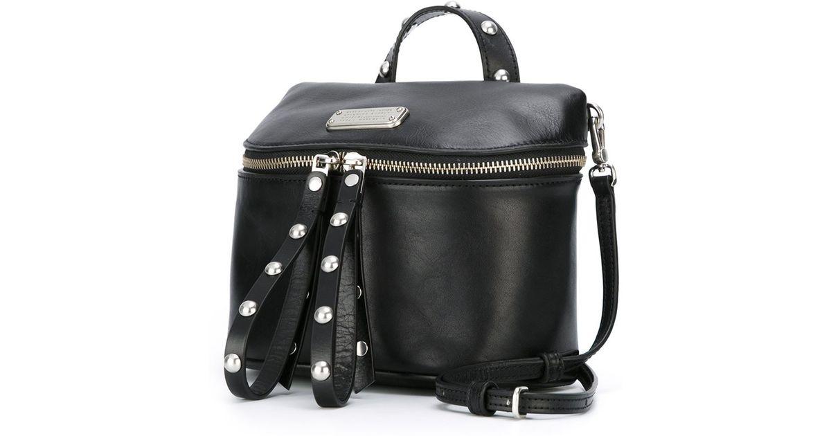 3c9e01ba6a02 Lyst - Marc By Marc Jacobs  canteen Rivets  Cross Body Bag in Black