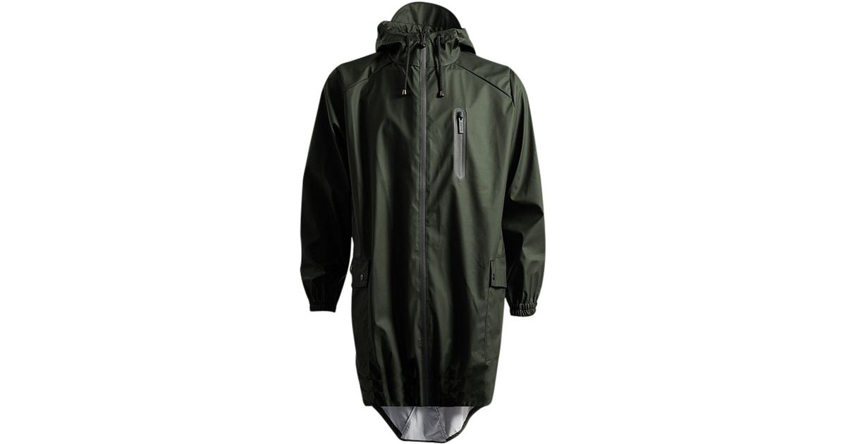 Rains Fishtail Parka Jacket in Green for Men | Lyst