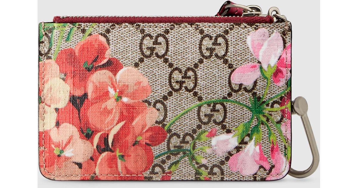 official photos 6fbd9 e1dda Gucci Pink Gg Blooms Key Case