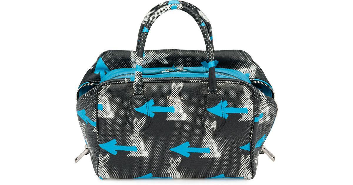 1edcca9b844d Prada Daino St. Rabbits Inside Bag in Black - Lyst
