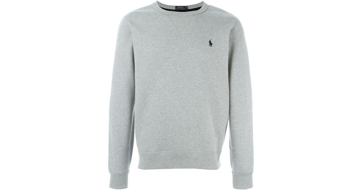 e4b5f24c3 Polo Ralph Lauren Crew Neck Sweatshirt in Gray for Men - Lyst