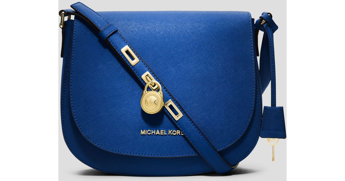 ... handbags cd208 26f0e  sale lyst michael kors crossbody hamilton large  messenger in blue c2797 40344 8dd1d1381c82b