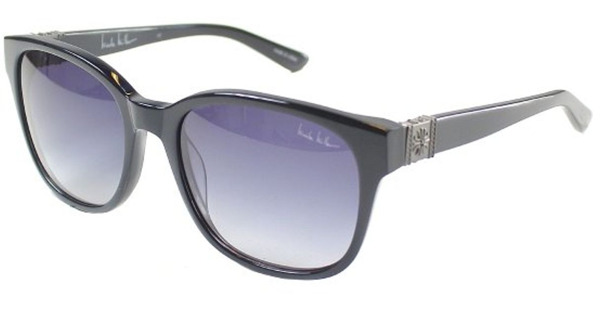 0db8919582 Lyst - Nicole Miller Vestry C01 Square Plastic Sunglasses in Black