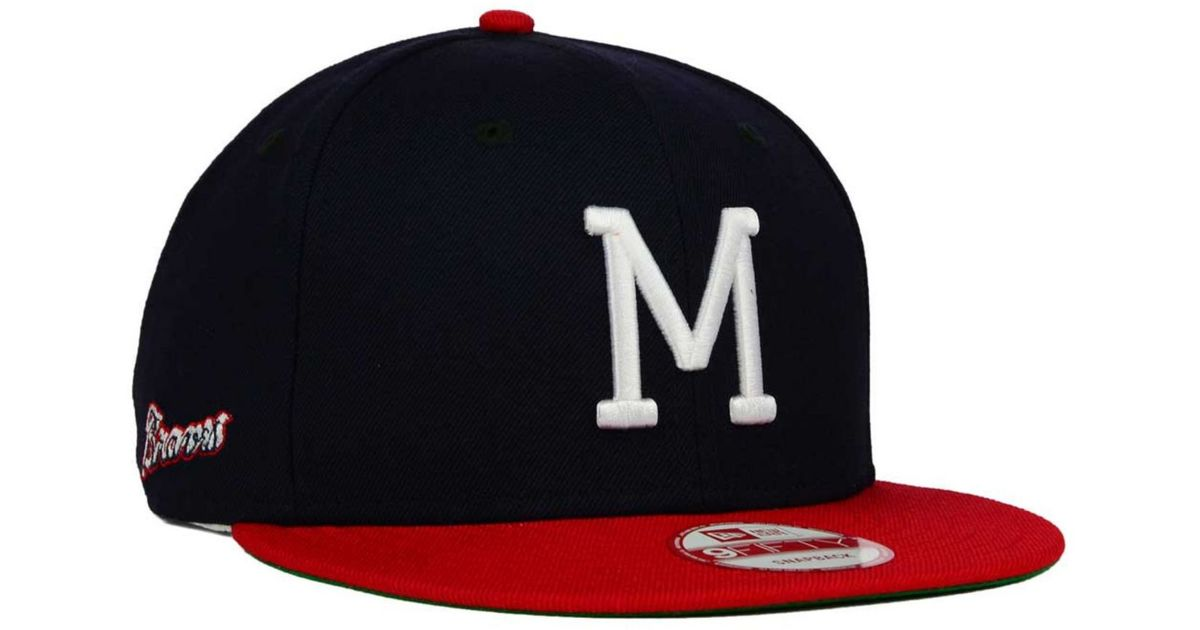 quality design 02058 e7ad9 KTZ Milwaukee Brewers 2 Tone Link Cooperstown 9fifty Snapback Cap in Red  for Men - Lyst