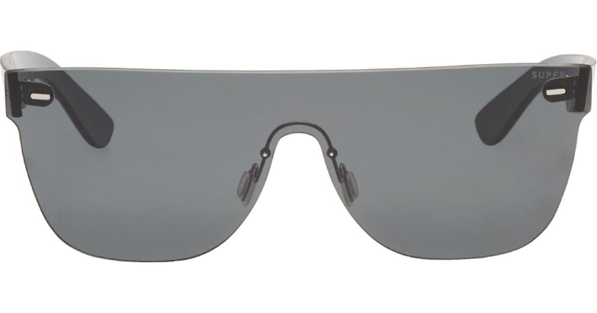 a170d68c14 Retrosuperfuture Black Tuttolente Flat Top Sunglasses in Black for Men -  Lyst