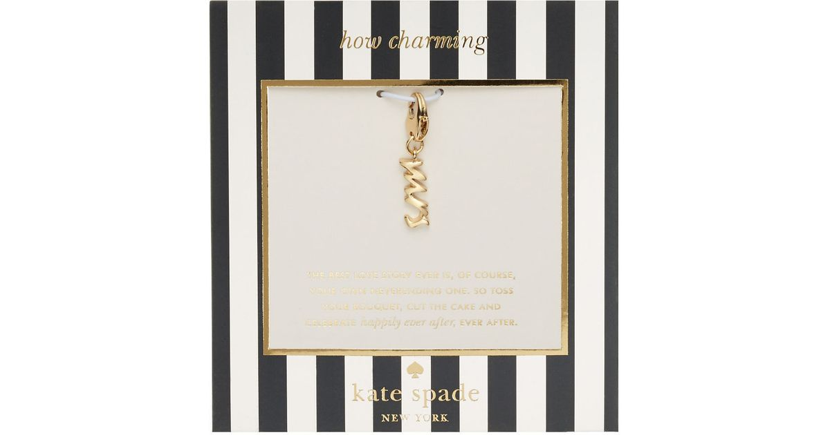Kate Spade New York How Charming Mrs Charm In Metallic Lyst