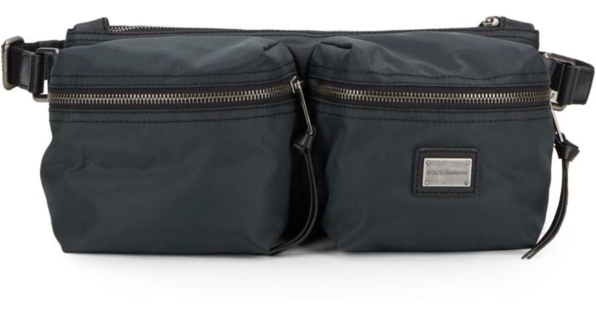 Lyst - Dolce   Gabbana Nylon Waist Bag in Gray for Men