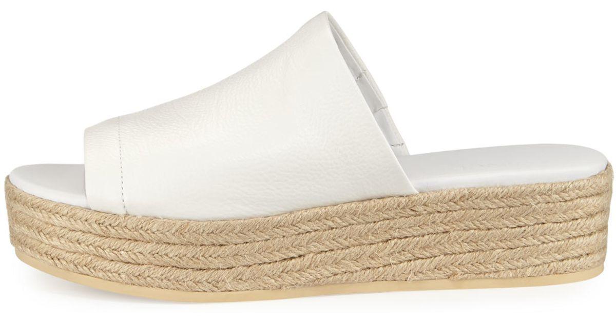 534a3c1806c7 Lyst - Vince Solana Leather Platform Espadrille Sandal in White
