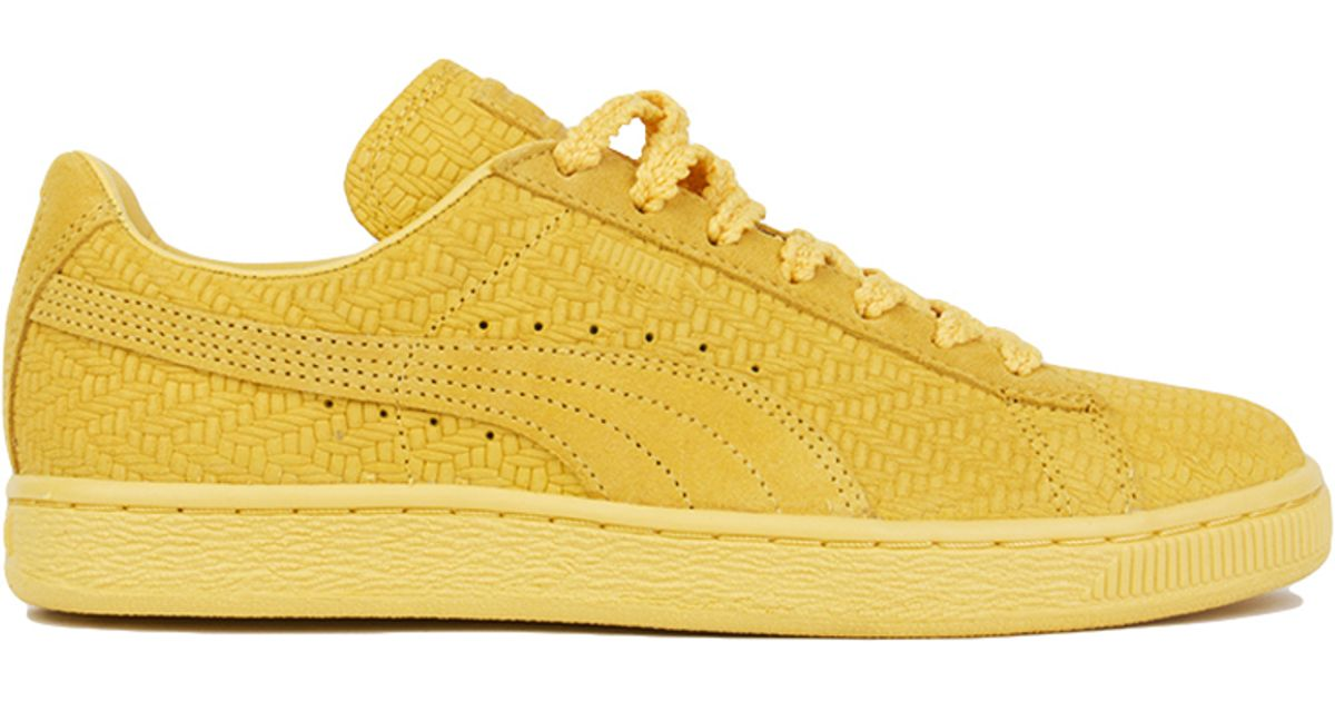 official photos 33899 da387 PUMA Yellow X Solange Knowles Classic Woven Sneakers - Gold Suede