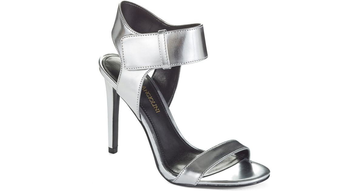 Lyst - Enzo Angiolini Brodee Heeled Sandals in Metallic 6d6d2b4d7308