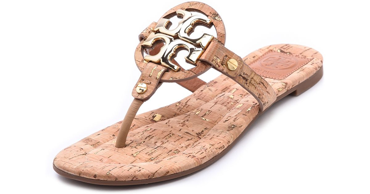 8f7cba87c Lyst - Tory Burch Miller 2 Cork Sandals - Natural gold gold in Metallic